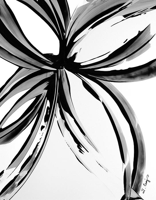 yessy abstract art by sharon cummings gallery buy black white art black magic 97 abstract flower art