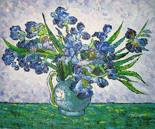Yessy A Art Original Oil Paintings Vincent Van Gogh Irises In